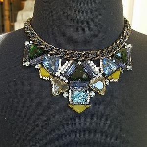 Super detailed statement necklace in black metal